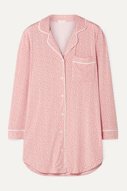 Sleep Chic printed stretch-modal pajama shirt