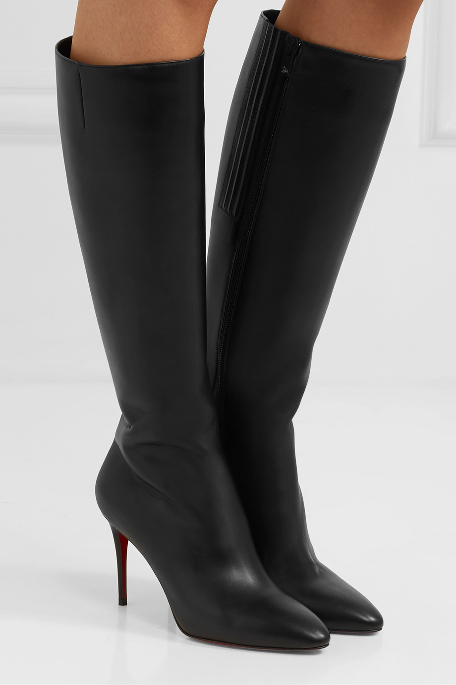 Christian Louboutin Eloise 85 leather knee boots