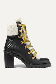 Yetita 70 shearling-trimmed leather ankle boots