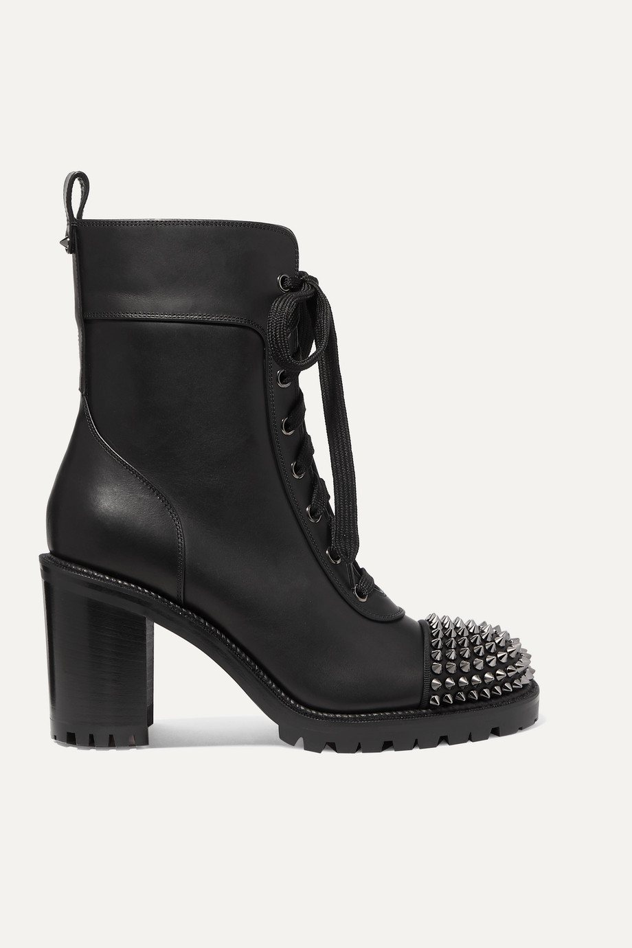 Christian Louboutin TS Croc 70 spiked leather ankle boots