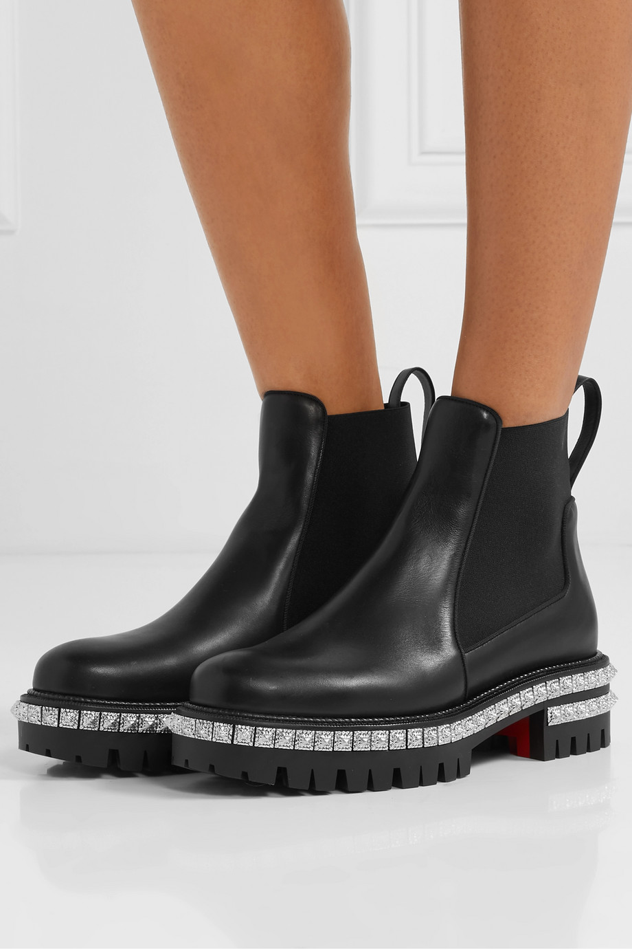 Christian Louboutin By The River 50mm studded leather Chelsea boots