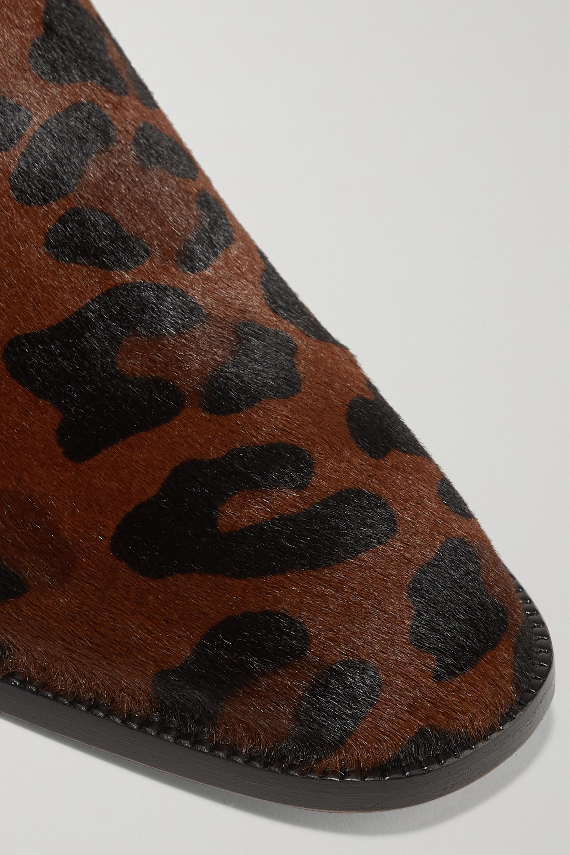 Christian Louboutin Bottines chelsea en façon poulain à imprimé léopard Marnmada 40