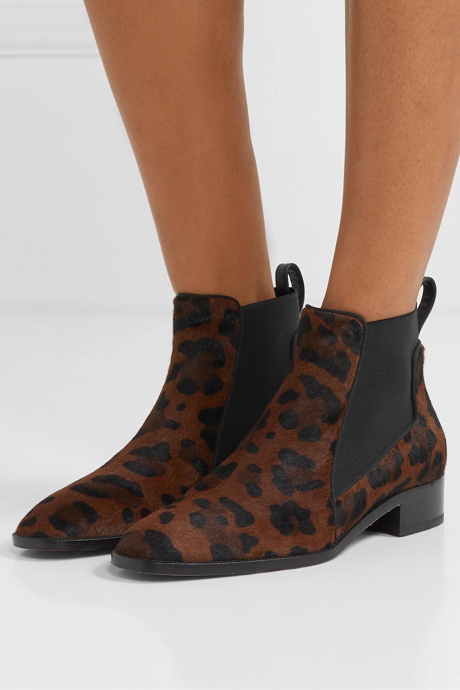 Christian Louboutin Marnmada 40 leopard-print calf hair Chelsea boots