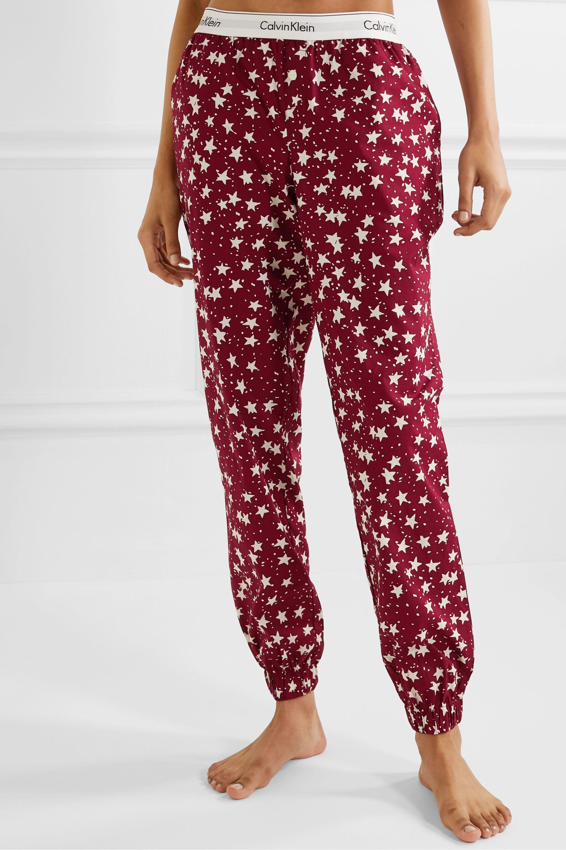 Calvin Klein Underwear Printed stretch-cotton jersey pajama set