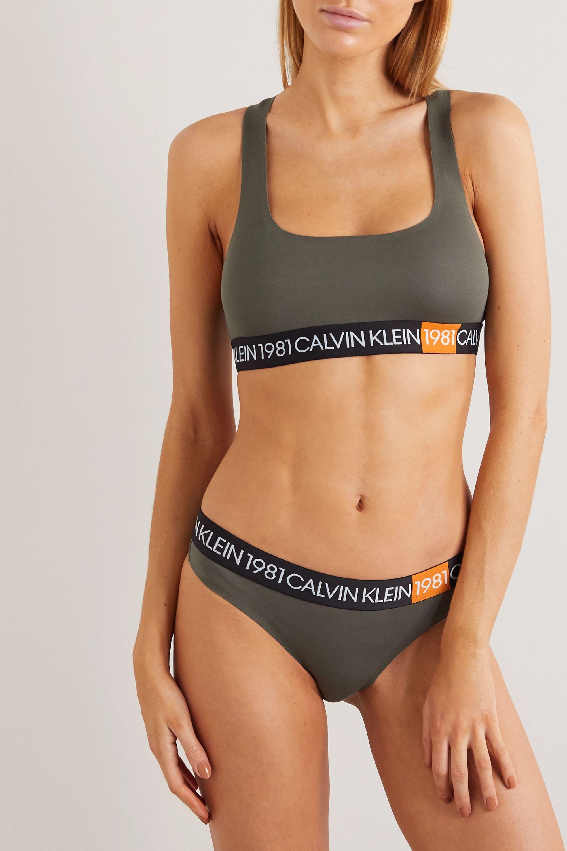 Calvin Klein Underwear Stretch-cotton jersey thong