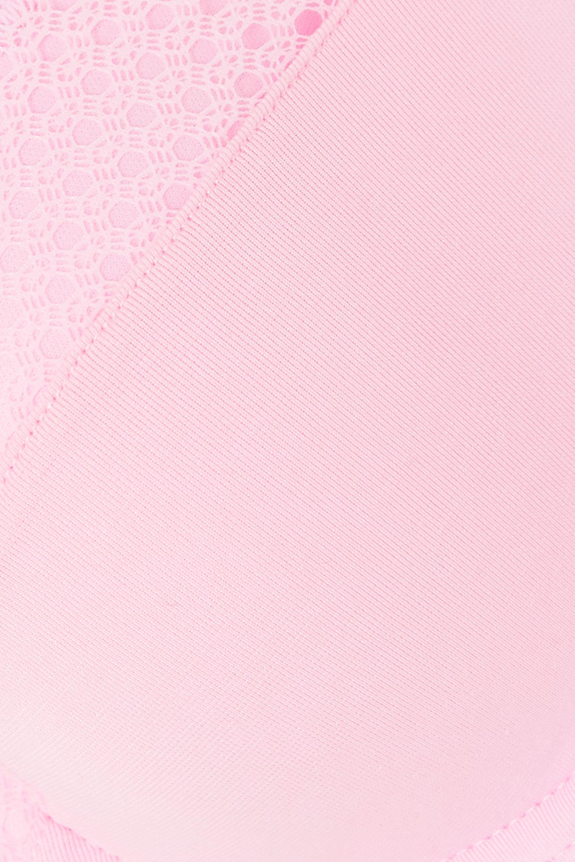 Calvin Klein Underwear Demi lace-trimmed stretch-jersey underwired bra