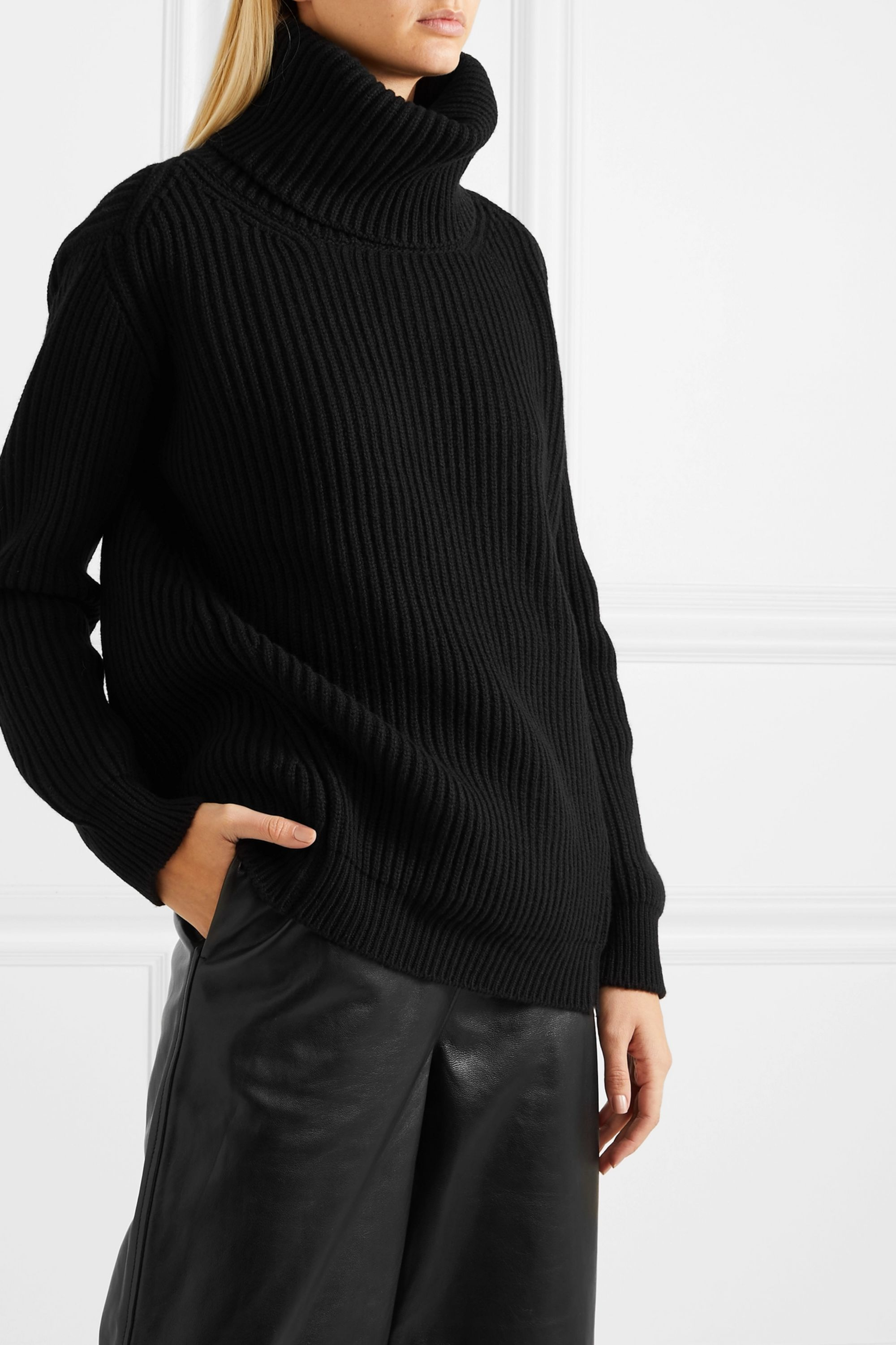 &Daughter Inver ribbed merino wool and cashmere-blend turtleneck sweater