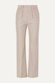 GmbH Mica wool-blend jacquard tapered pants