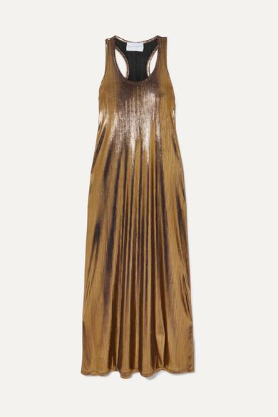 ef47bfefe8f2 Marie France Van Damme | Metallic crinkled-jersey maxi dress |  NET-A-PORTER.COM