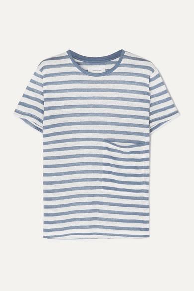 half off 60f7c 08ff9 The Drop Pocket striped linen T-shirt