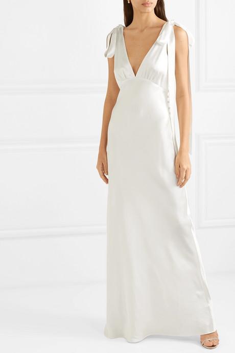 Silk-charmeuse gown