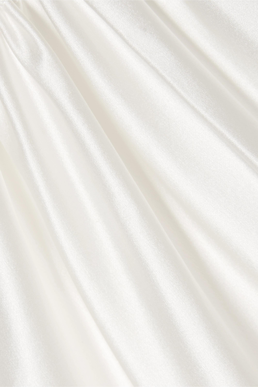 Les Rêveries Silk-charmeuse halterneck gown