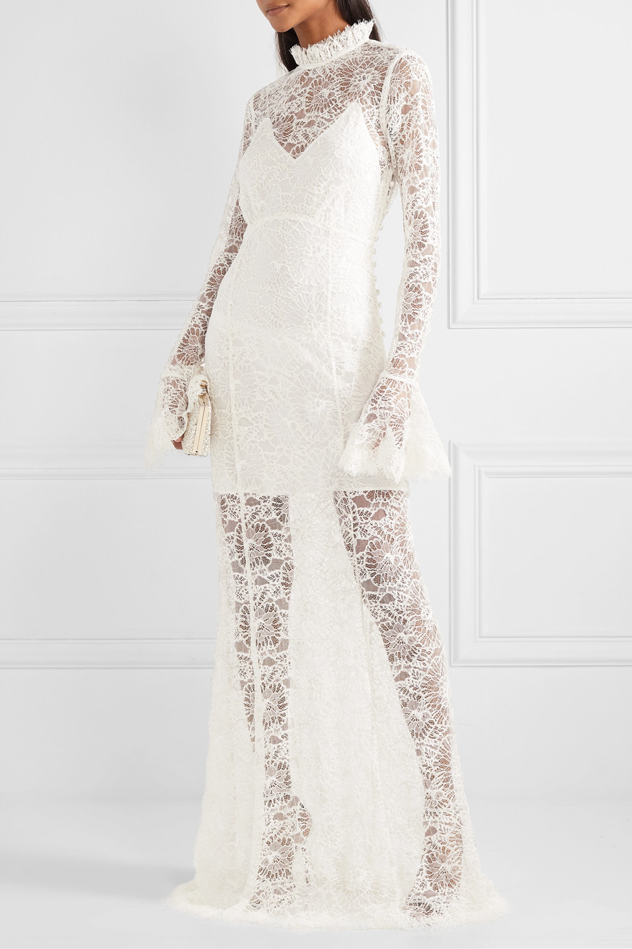 Les Rêveries Corded lace gown