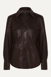Equipment Garcella leather shirt