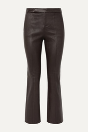Equipment Sebritte cropped leather flared pants
