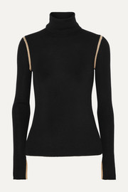 Equipment Mourelle ribbed wool turtleneck sweater