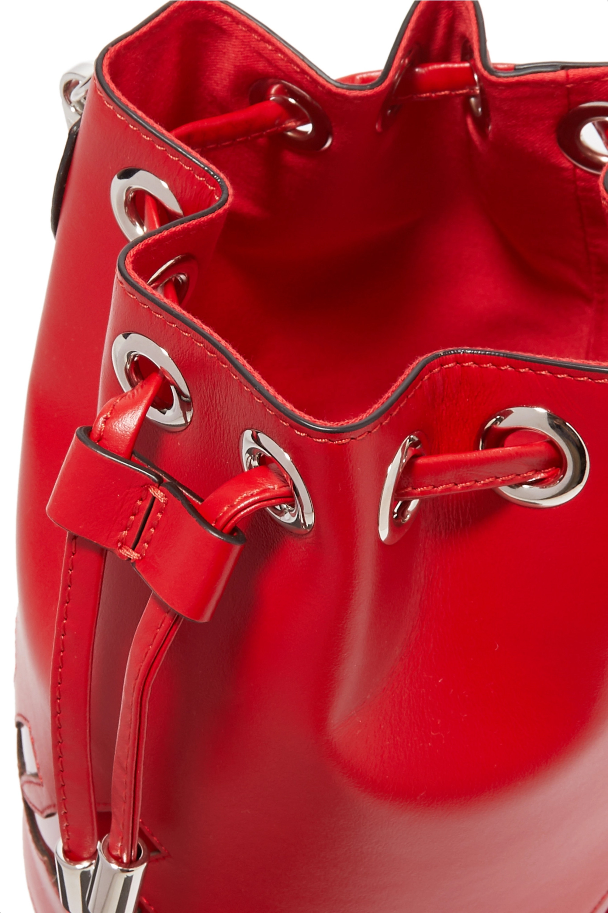 Christian Louboutin Marie Jane PU-trimmed leather bucket bag