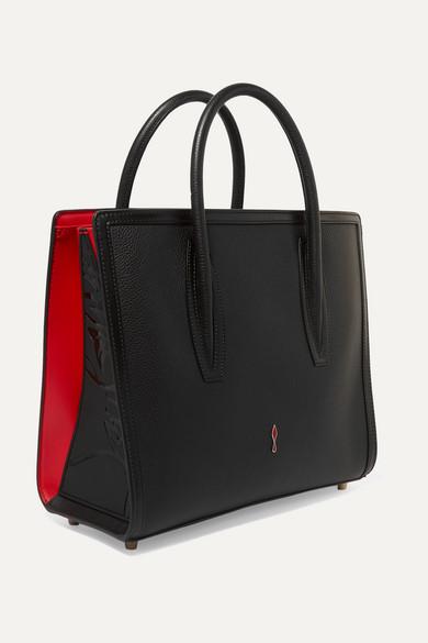 fa759ca3286 Christian Louboutin | Paloma medium embellished textured-leather ...
