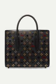 Christian Louboutin Paloma medium embellished textured-leather tote