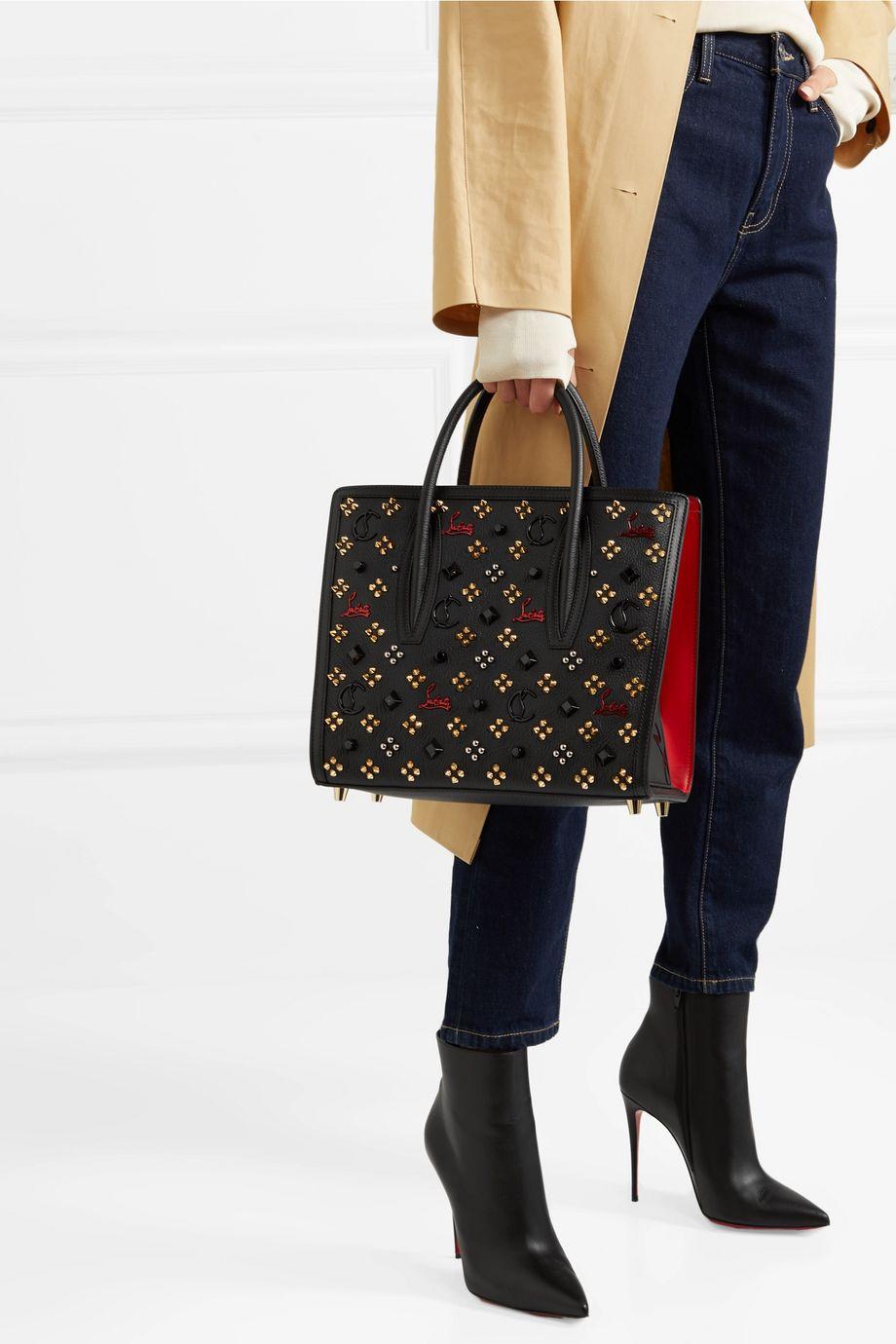 Christian Louboutin Paloma medium embellished textured-leather tote