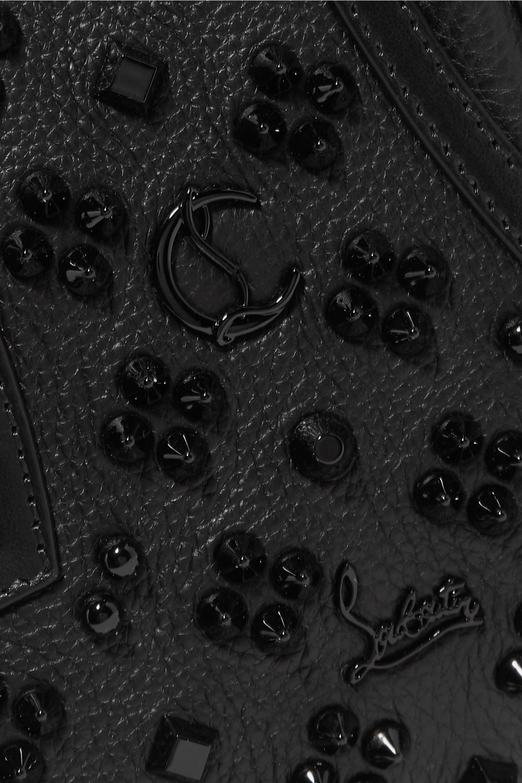Christian Louboutin Paloma mini embellished textured-leather tote