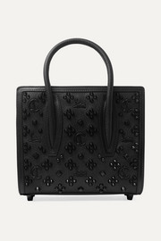 Christian Louboutin Paloma mini embellished textured-leather tote