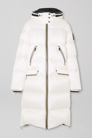 Honey-D hooded quilted down ski jacket