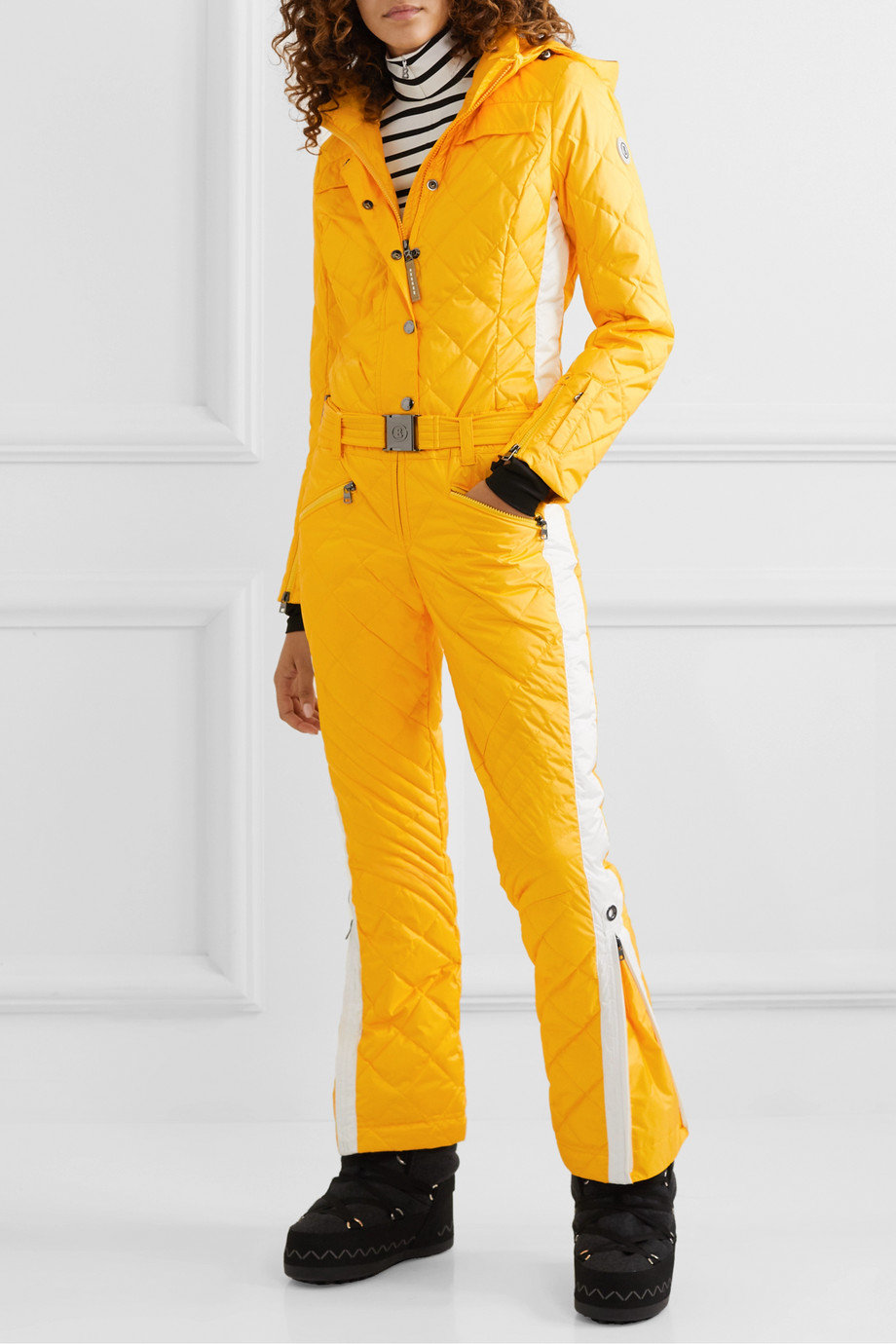 Bogner Greta belted quilted padded ripstop ski suit