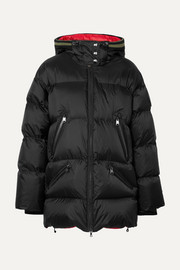 Harper-D hooded quilted ripstop down ski jacket