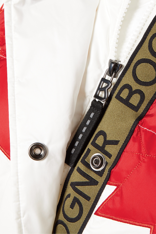 Bogner Dana-D printed quilted ripstop down ski jacket