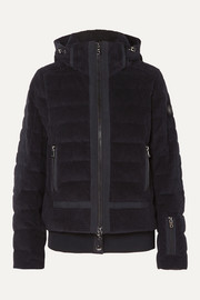 Bogner Muriel hooded quilted cotton-corduroy down ski jacket
