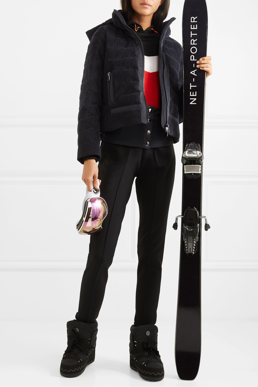 Bogner Muriel hooded quilted cotton-corduroy down ski jacket