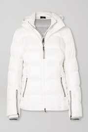 Sanne-D hooded quilted down ski jacket