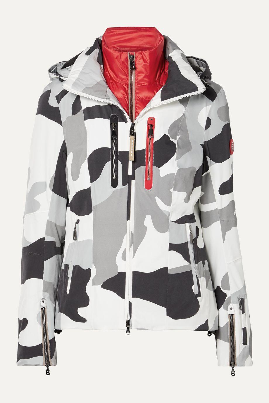 Bogner Tami hooded camouflage-print ski jacket