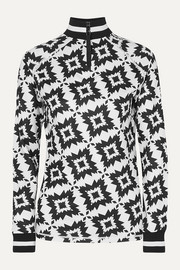 Bogner Madeline printed stretch-jersey turtleneck top