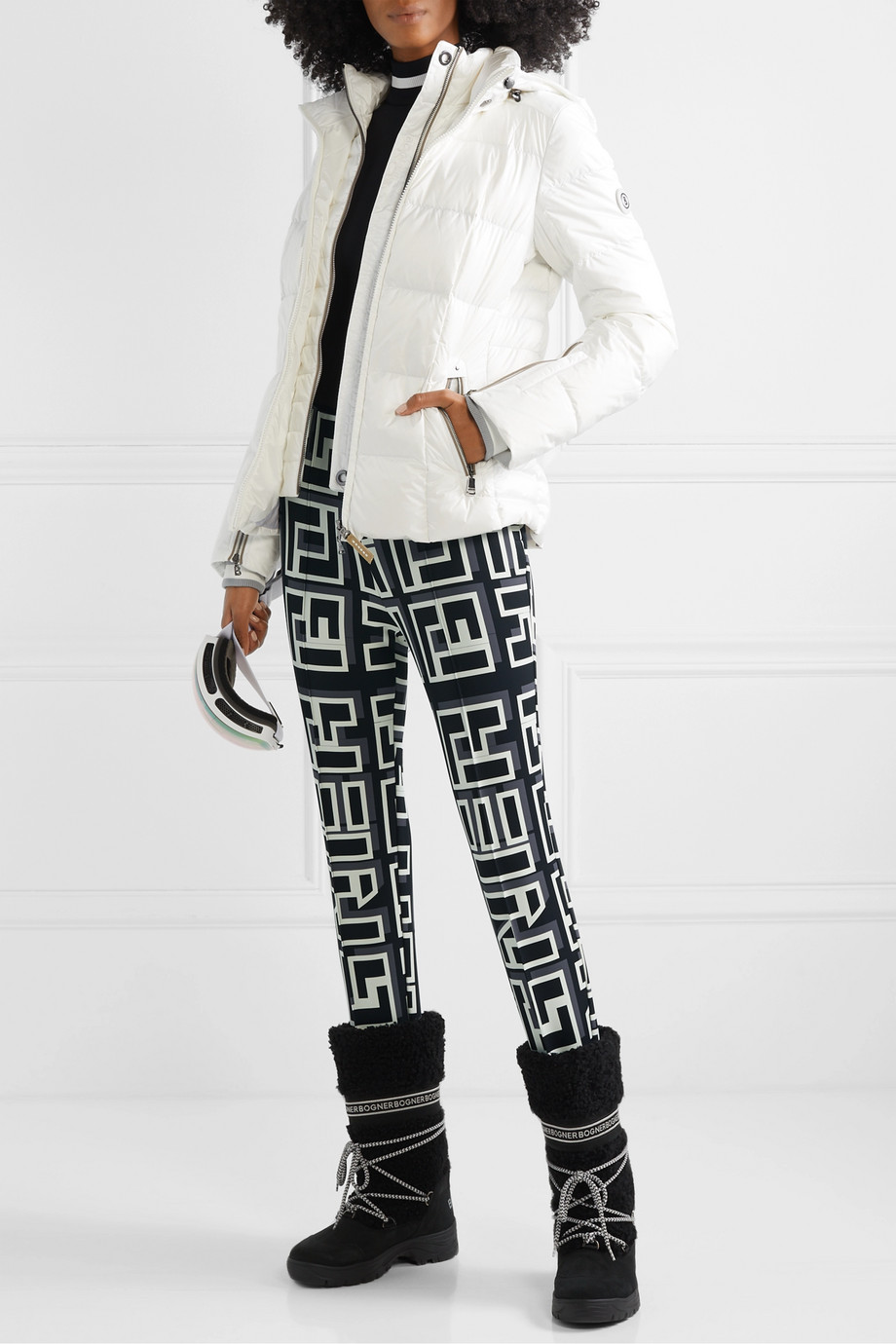 Bogner Elaine printed stretch stirrup ski pants