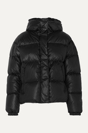 Ranja oversized cropped hooded quilted down ski jacket