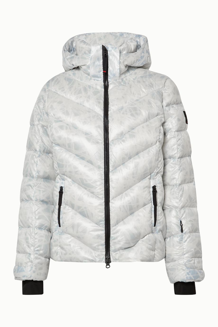 BOGNER FIRE+ICE Sassy2 hooded printed quilted down ski jacket