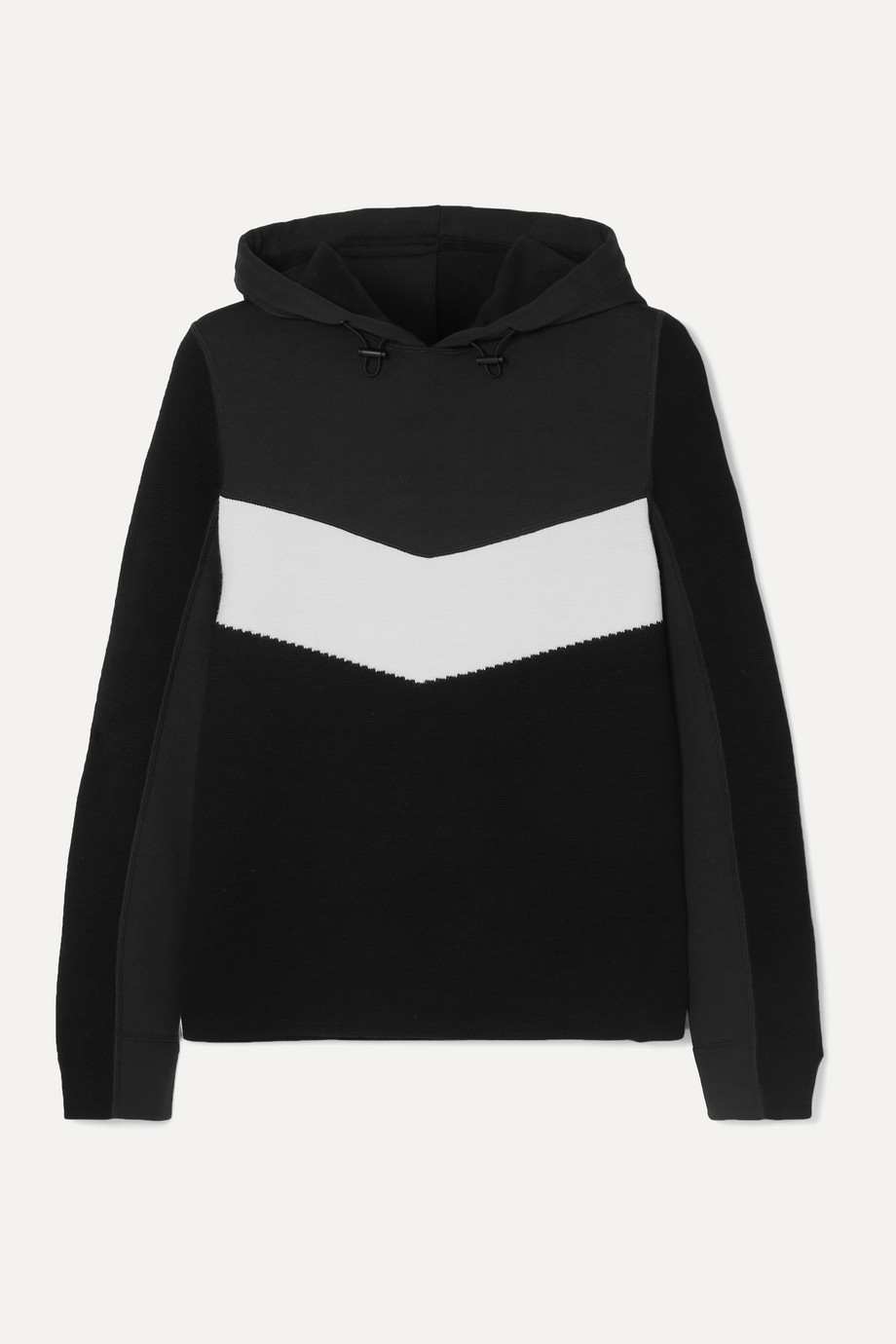 BOGNER FIRE+ICE Mariah two-tone wool-blend and scuba hoodie