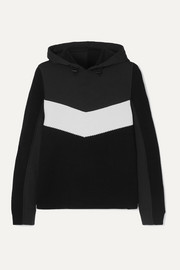 Mariah two-tone wool-blend and scuba hoodie