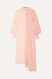 + NET SUSTAIN and BBC Earth Millie asymmetric polka-dot organic silk dress