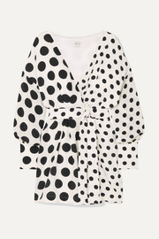+ NET SUSTAIN and BBC Earth Julia polka-dot organic silk wrap dress