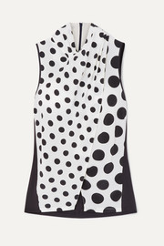 + NET SUSTAIN and BBC Earth Nyler polka-dot silk-crepe top