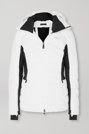 Duana two-tone hooded quilted down ski jacket
