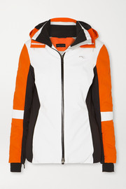 Kjus Formula color-block hooded down ski jacket