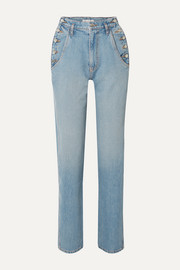 TRE by Natalie Ratabesi The Aphrodite high-rise slim-leg jeans