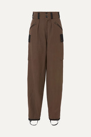 TRE by Natalie Ratabesi Maia pleated two-tone cotton-blend twill cargo pants