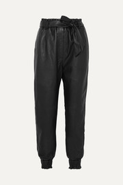 MUNTHE Houdini belted tapered leather pants