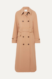 MUNTHE Heim belted double-breasted twill coat