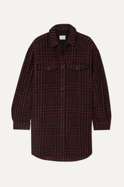 MUNTHE Hero oversized checked flannel jacket